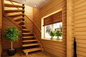 Купить винтовую деревянную лестницу в Ногинске