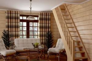 Деревянные лестницы в Истре