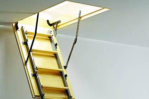 Лестница для чердака под ключ