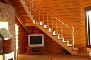 Заказать деревянную лестницу в Павловском Посаде