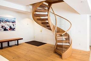 Заказать винтовую деревянную лестницу