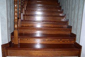 Изготовление лестниц из лиственницы