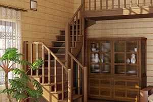 Изготовление лестниц сосна
