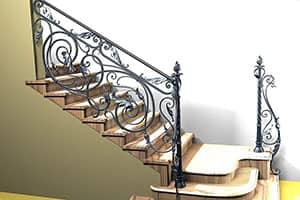 Изготовление кованых лестниц под ключ