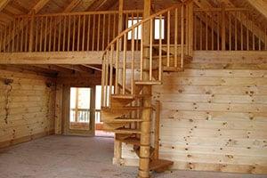 Купить деревянную лестницу на второй этаж с установкой