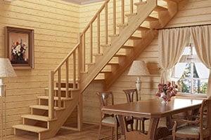 Монтаж деревянной лестницы цена