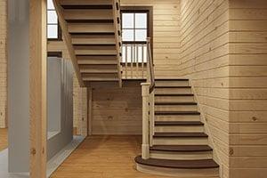 Стоимость деревянной лестницы на второй этаж