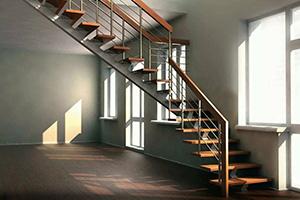 Лестницы в дом на металлокаркасе