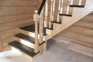 Изготовление лестниц из сосны