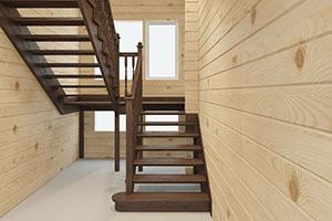 Купить лестницу деревянную на второй этаж дешево